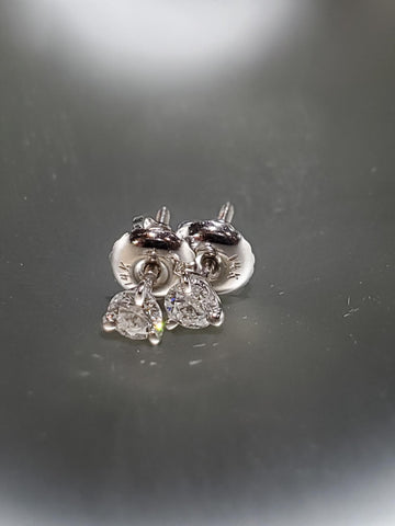 14K White Gold With 0.25CT Diamond Martini Stud
