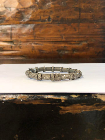 Sterling Silver Indian Diamond Textured Bracelet