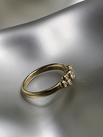 18K Gold & Diamonds, Java Ball Ring