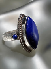 Sterling Silver & Lapis Ring