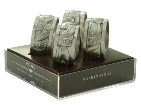 Pewter Native Napkin Rings