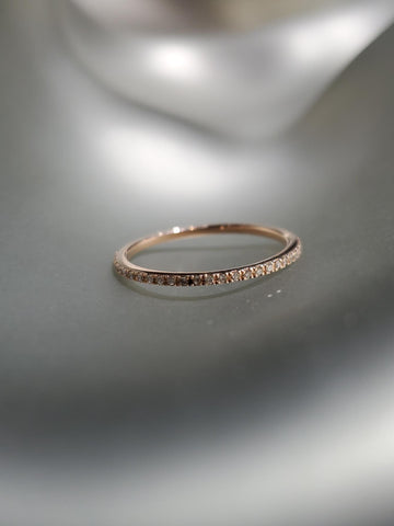 "18K Rose Gold & Pave Diamonds Petite ""Quinn"" Band"