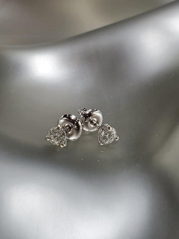 14K White Gold With 0.36CT Diamond Martini Studs