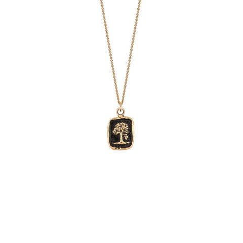 "Potential for Greatness Talisman Necklace, 14K gold, 18"" chain"