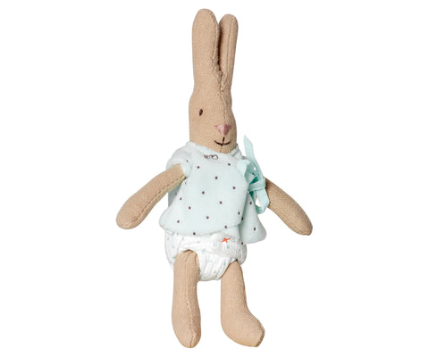 Micro Rabbit, Light Blue Bib Shirt