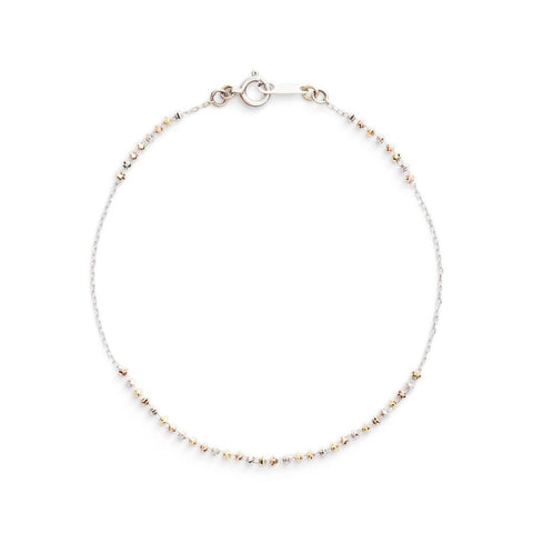 18K White, Yellow, Rose Gold Shimmer Line Bracelet