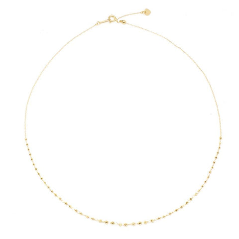 18K Yellow Gold Adjustable Shimmer Necklace