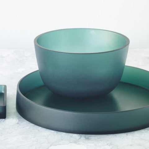 Resin Teal Boulevard Tray