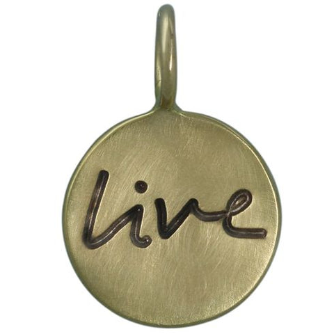14K Green Gold 1mm Round Live Charm