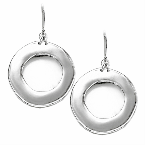 Sterling Silver Halo Earrings