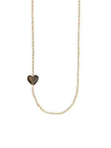 "14K Gold & 1 Diamond, Typewriter ""Heart"" Necklace"