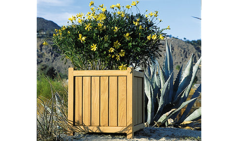 Teak Brookside Planter 16""