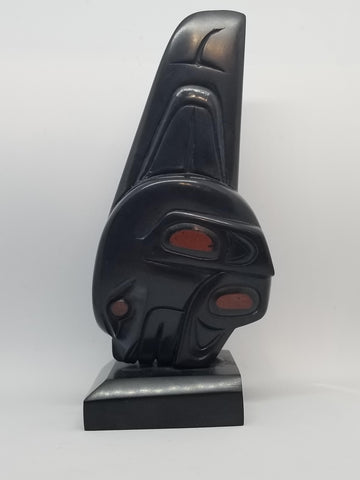 Argillite & Pipe stone 'Orca / Killer Whale' Carving