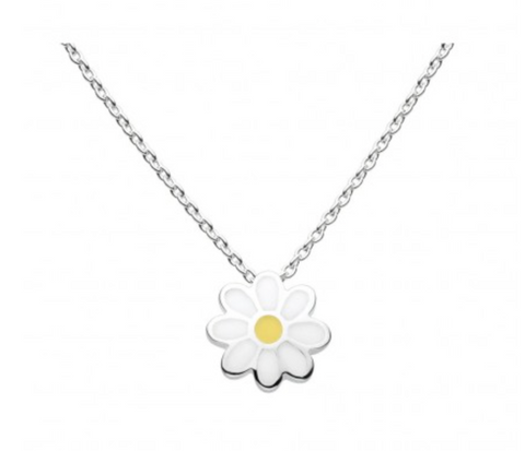 Sterling Silver Enamel Daisy Chain Necklace