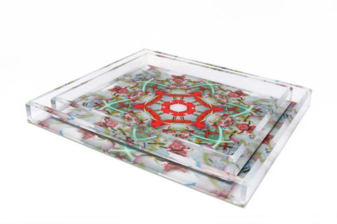 Accent Tray Cocktail Medium Kaleidoscope Print