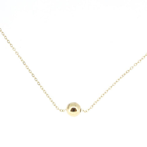 14K Yellow Gold Baller Necklace