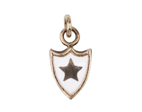 Bronze White Goodness & Light Color Shield Charm