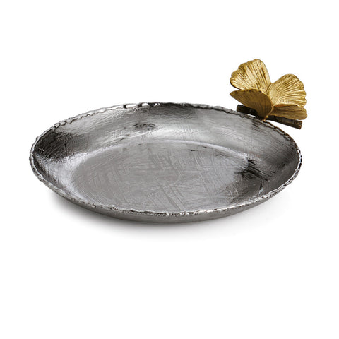 Butterfly Gingko Round Trinket Tray