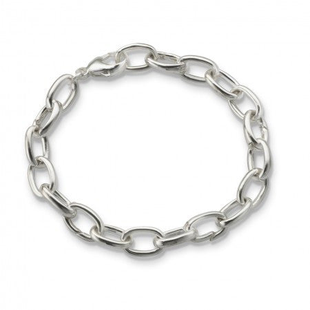 Sterling Silver Smooth Links & Hinges Bracelet