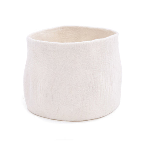 Medium Plain Calabash Basket, Felt