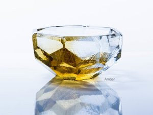 Amber Crystal Bowl 4.25""