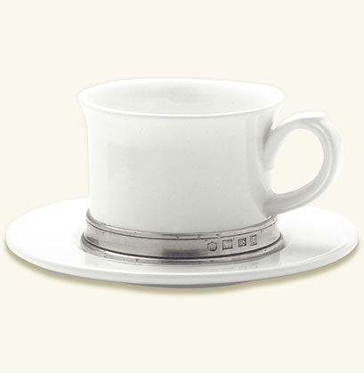 Convivio Cappuccino Cup With Saucer