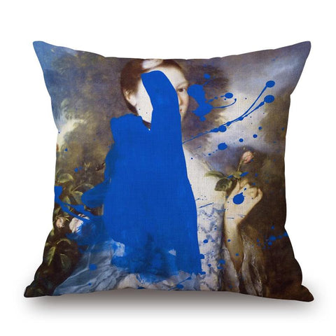 Lady Innes Pillow with Paint by Chad Wys