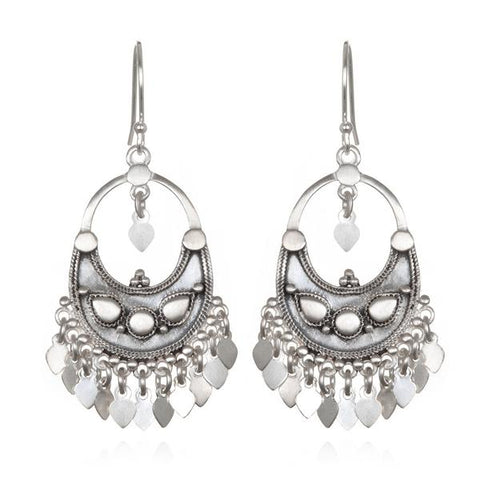 Sterling Silver Lotus Petal Chandelier Earrings