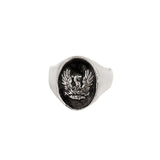 Sterling Silver Fire Within Signet Ring
