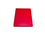 Chili Red Resin Rectangle Tray