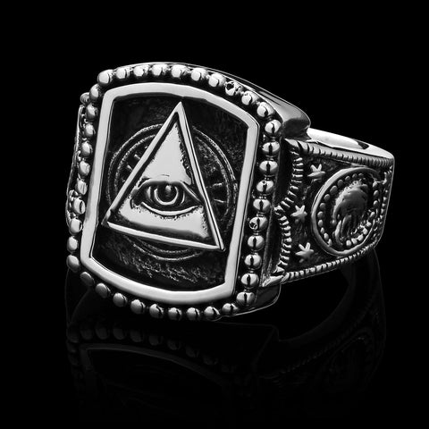 Illuminati - Stainless Steel Ring size 11