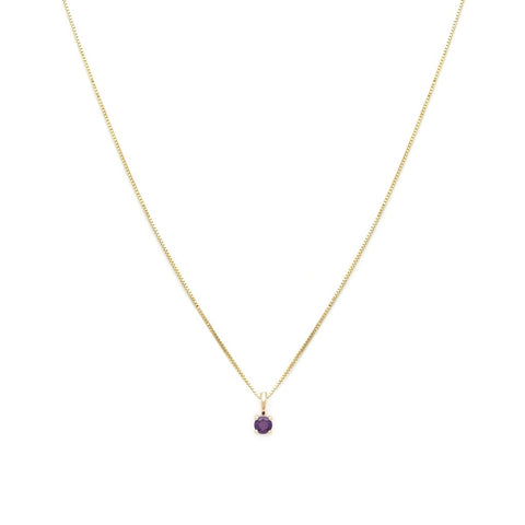 Element - 14K & 10K Gold Chain Amethyst Necklace