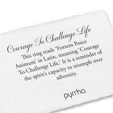Courage to Challenge Life Poesy Ring, sterling silver, size 5