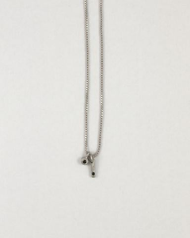 Sterling Silver Black Diamond Necklace