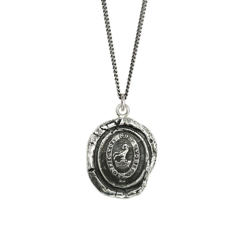 Sterling Silver Devoted Father Talisman Necklace