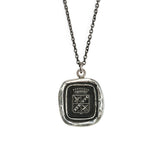 Sterling Silver Strive For Excellence Talisman Necklace