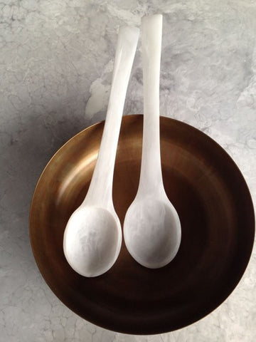 Resin White Marble Spoons