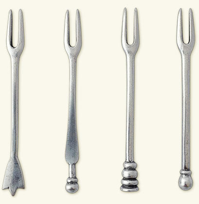 Assorted Slice Cocktail Forks Set Of 4
