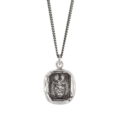 Sterling Silver Warrior Talisman Necklace