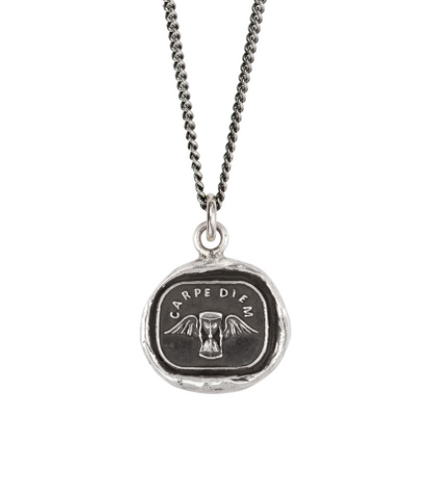 Sterling Silver Carpe Diem Talisman Necklace