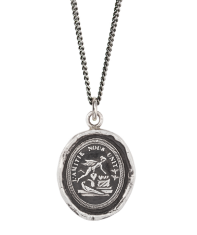 Sterling Silver Friendship Unites Us Talisman Necklace