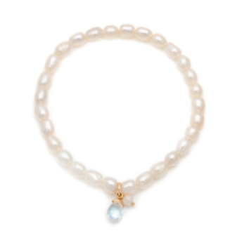 Social Mini - Gold Fill Pearl & Moonstone Bracelet