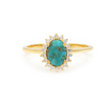 Mini Antiquity - Gold Plate Turquoise & CZ Ring