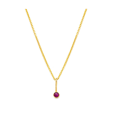 14k Gold Coveted Ruby Necklace