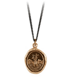 Bronze St. Christopher Talisman Necklace
