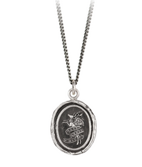Sterling Silver Nothing Is Heavy Talisman Necklace