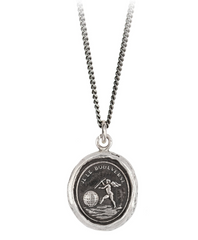 Sterling Silver Love Moves The World Talisman Necklace