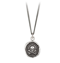 Sterling Silver Remember To Live Talisman Necklace