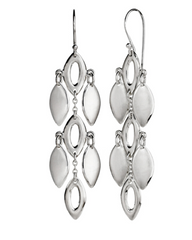 Sterling Silver Three Tiered Shimmer Earrings
