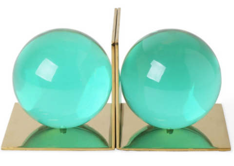 Globo Bookend Set - Green